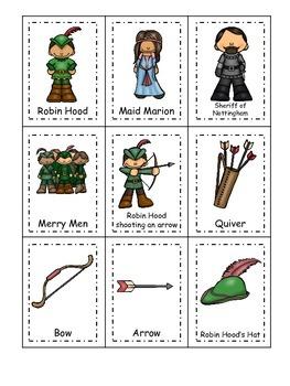 Robin Hood themed Three Part Matching preschool educationa