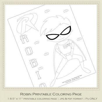 Robin Printable Color Page