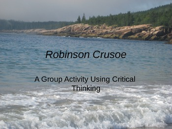 Robinson Crusoe Group Activity Using Critical Thinking Pow