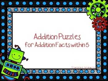 Robot Addition Puzzles