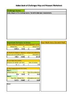 Robot Book of Challenges Map & Measure Worksheet
