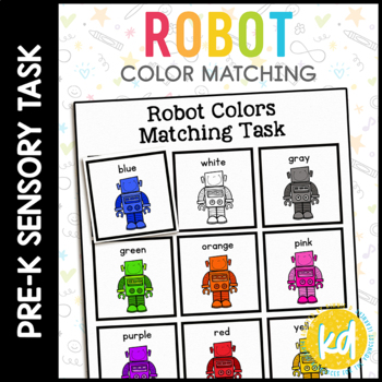 Robot Color Matching Folder Game for students with Autism