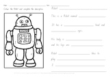 Robot Description Fill in the Blanks-NSW Foundation Font