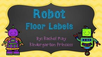 Robot Floor Labels FREEBIE