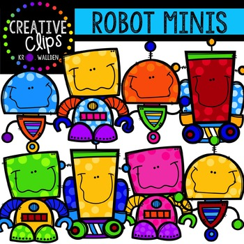 Robot Minis {Creative Clips Digital Clipart}