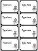 Editable Robot Nameplates & Labels