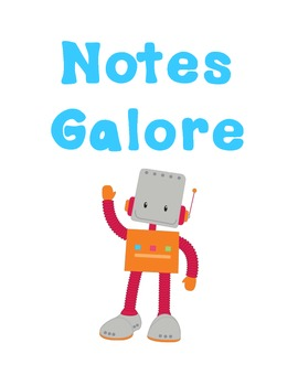 Robot Note Pages to Teacher Organizer