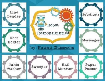 Robot Responsibilities Job Chart