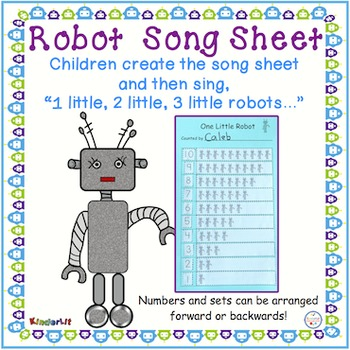 Robot Song Sheet - FREE
