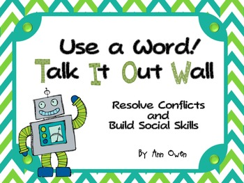 "Robots ""Talk It Out"" Conflict Resolution Wall"