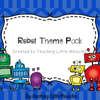Robot Theme Classroom Decor Pack