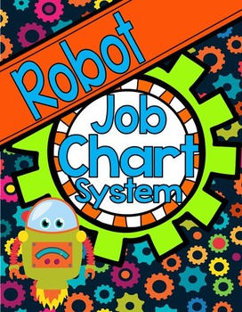 Robot Theme Classroom Job Chart
