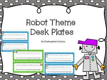 Robot Theme Desk Plates