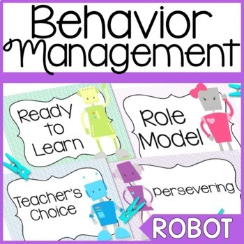 Robot Themed Behavior Clip Chart