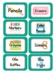 Robot Themed Classroom Supply Tags