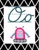 Robot-Themed Cursive Alphabet Line (Portrait Orientation)