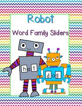 Robot Word Family Sliders