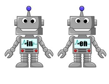 Robot Word Family Sort