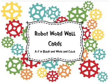 Robot Word Wall Cards