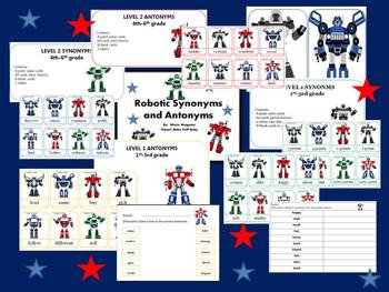 Robotic Synonyms and Antonyms