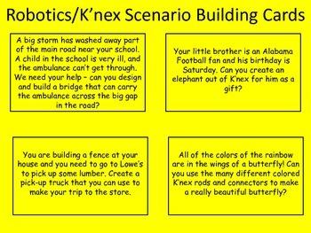 Robotics/K'nex Scenario Building Cards - Fun