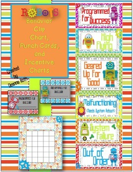 Robots Behavior Pack {Clip Chart, Punch Cards, & Incentive