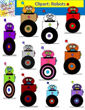 Color Clipart Graphics: ROBOTS