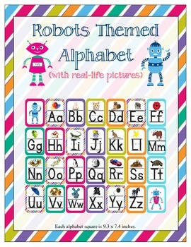 Robots Themed ABC Printables (w/ letter related pictures)