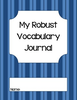 Robust Vocabulary Journal-Common Core-Blue