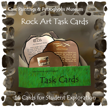 Rock Art Task Cards (INCLUDED in Cave Paintings & Petrogly