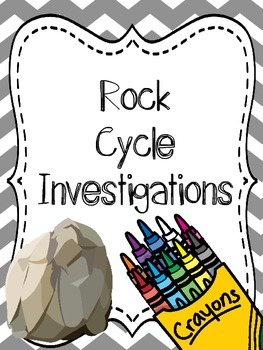 Rock Cycle Investigation {Hands On Lab, Observations and Q