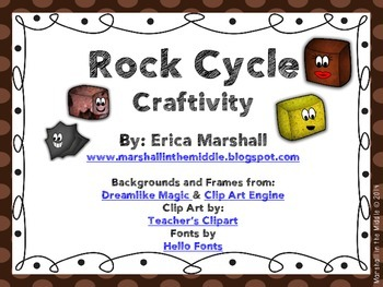 Rock Cycle Craftivity