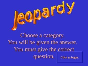 Rock Cycle Jeopardy