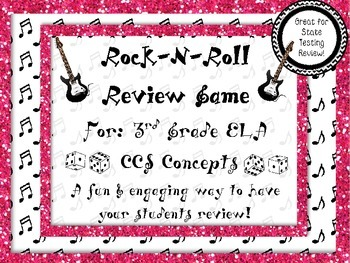 Rock-N-Roll 3rd Grade ELA End of Year Review (Great for St