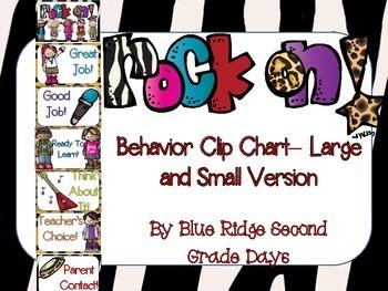 Rock On Behavior Clip Chart