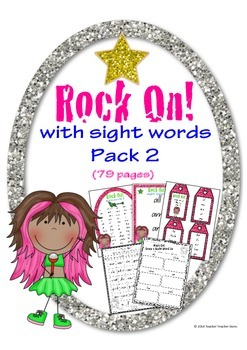 Rock On Sight Words Display Poster and Word Work Pack 2 Gr