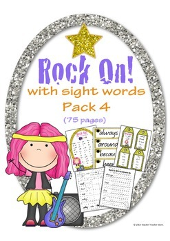 Rock On Sight Words Display Poster and Word Work Pack 4 Gr