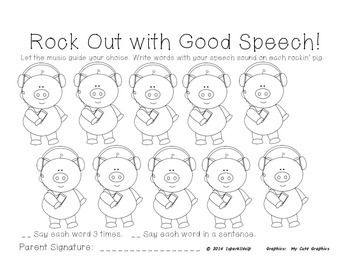 Rock Out with Good Speech Open Ended Articulation
