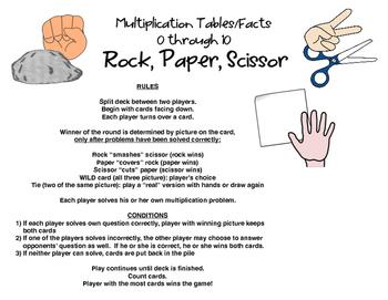 Rock, Paper, Scissor: MULTIPLICATION