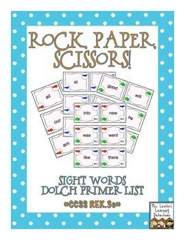 Rock, Paper, Scissors: Dolch Primer Sight Words