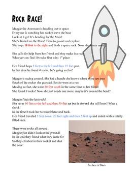 Rock Race Poem & Graphing Worksheet