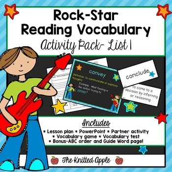 Test Prep: Rock Star Reading Vocabulary{List 1}
