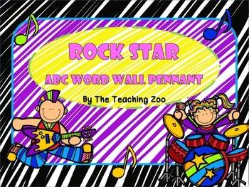 Rock Star ABC Word Wall Pennant Banner