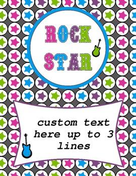 Rock Star Binder Cover-Editable pdf file