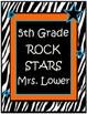 Rock Star Binder/ Folder Cover: Mrs. Lower Rockstar
