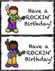 Rock Star Birthday Note Cards
