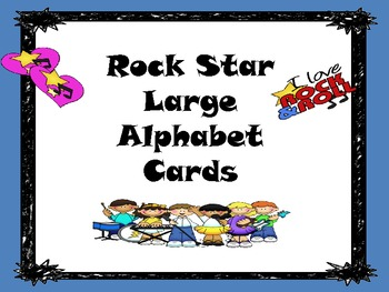 Rock Star (Darker Color Scheme) Large Alphabet Cards with