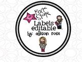 Rock Star Labels editable