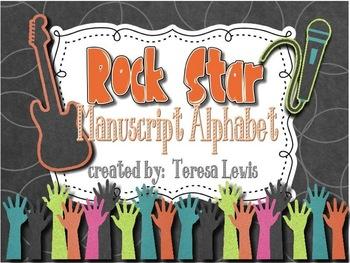 Rock Star Manuscript Alphabet