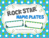 Rock Star Name Plates {Editable}
